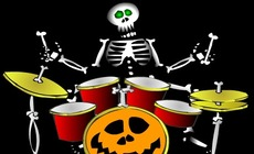 Play-drums-with-a-skeleton