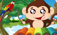 Play-music-with-a-monkey-and-a-xylophone
