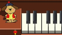 Play-music-en-china-con-un-can-que-toca-o-piano