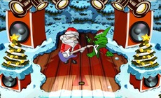 Santa-ile-gitar-oynayn